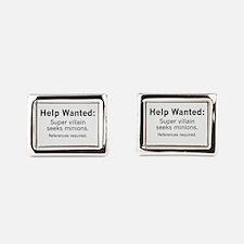 Minions Wanted Rectangular Cufflinks