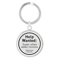 Minions Wanted Round Keychain