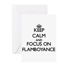Keep Calm and focus on Flamboyance Greeting Cards