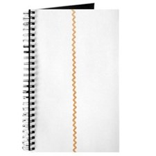 Yellow Gold Abstract Zigzag Ribbon Stripes Journal