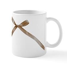 Taupe Brown Ribbon Bow Mugs