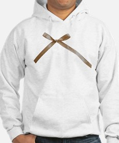 Taupe Brown Ribbon Bow Hoodie