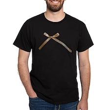 Taupe Brown Ribbon Bow T-Shirt