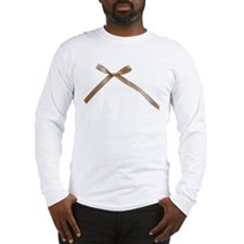 Taupe Brown Ribbon Bow Long Sleeve T-Shirt