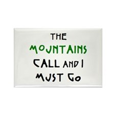 mountains call Rectangle Magnet