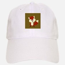 Cute Fox on Polka Dots Baseball Baseball Baseball Cap