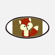 Cute Fox on Polka Dots Patches
