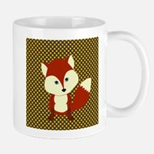 Cute Fox on Polka Dots Mugs