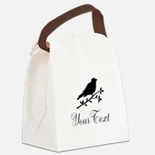 Personalizable Bird Silhouette Canvas Lunch Bag