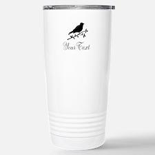Personalizable Bird Silhouette Travel Mug