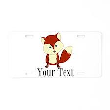 Personalizable Red Fox Aluminum License Plate