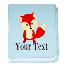 Personalizable Red Fox baby blanket