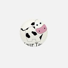 Personalizable Black and White Cow Mini Button (10