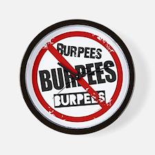 No Burpees Wall Clock