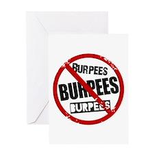 No Burpees Greeting Card