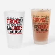 Oral Cancer HowStrongWeAre Drinking Glass