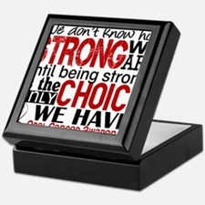 Oral Cancer HowStrongWeAre Keepsake Box