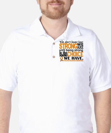 Multiple Sclerosis HowStrongWeAre Golf Shirt