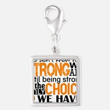Multiple Sclerosis HowStrongW Silver Square Charm