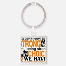 Multiple Sclerosis HowStrongWeAre Square Keychain