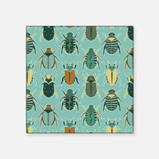 Scarab Beetle Pattern Blue and Brown Sticker