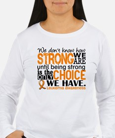 Leukemia HowStrongWeAr T-Shirt