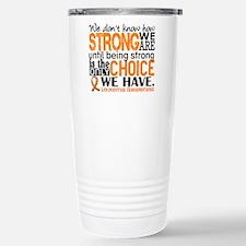 Leukemia HowStrongWeAre Stainless Steel Travel Mug
