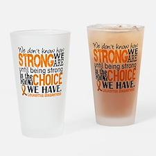 Leukemia HowStrongWeAre Drinking Glass