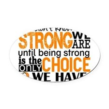 Leukemia HowStrongWeAre Oval Car Magnet
