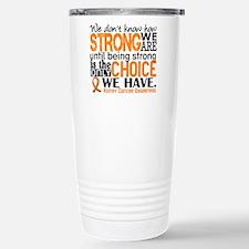 Kidney Cancer HowStrong Travel Mug