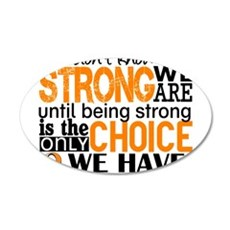 Kidney Cancer HowStrongWeAre Wall Decal