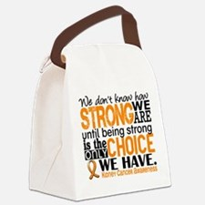 Kidney Cancer HowStrongWeAre (Ora Canvas Lunch Bag