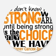 Kidney Cancer HowStrongWeAre (Ora Round Car Magnet