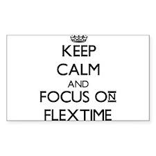 Keep Calm and focus on Flextime Decal