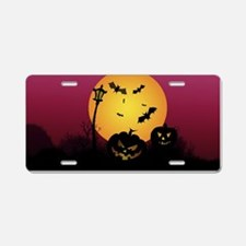 Spooky Halloween 6 Aluminum License Plate