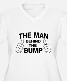 The man behind the bump Plus Size T-Shirt