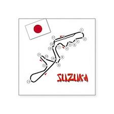 suzuka6x6black Sticker