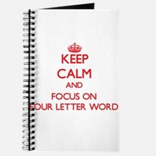 Funny Four letter word Journal