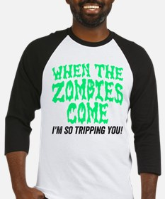When The Zombies Come Baseball Jersey