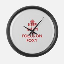 Unique Foxy Large Wall Clock