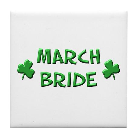 March Bride Tile Coaster