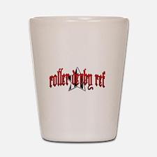 Roller Derby Ref Shot Glass