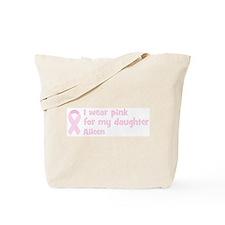 Daughter Aileen (wear pink) Tote Bag