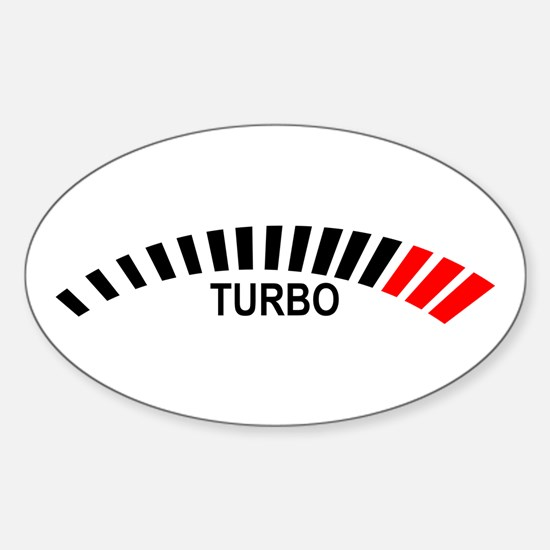 Turbo Oval Stickers