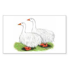 Sebastopol Geese Rectangle Decal