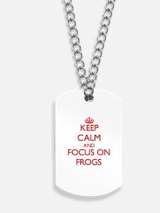 Keep calm frog Dog Tags