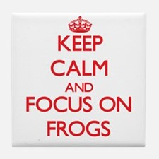 Cool Keep calm frog Tile Coaster