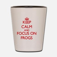 Cute Keep calm frog Shot Glass