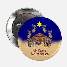 Nativity Scene Button