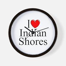 """""""I Love Indian Shores"""" Wall Clock"""